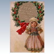 Christmas Postcard Frances Brundage Scottish Nation Series