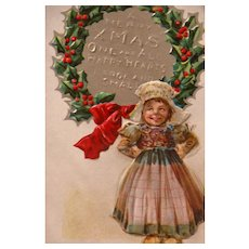 Christmas Postcard Frances Brundage Scottish Nation Series