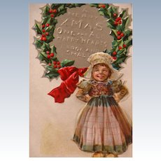 Christmas Postcard Francis Brundage Scottish Nation Series