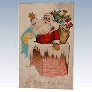 Santa Post Card 1908 Ellen Clapsaddle Artist Tucks Kris Kringle