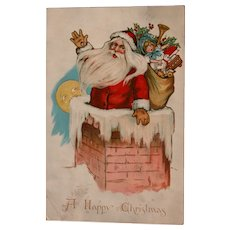 Santa Post Card 1908 Ellen Clapsaddle Artist Tucks Kris Kringle