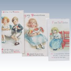 Valentine's Day Postcards by Ellen Clapsaddle Three Postcards