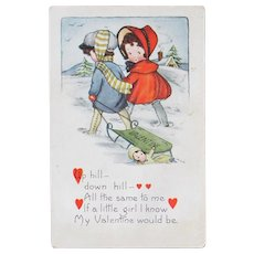 Two Valentines Day Postcard by Whitney Publishing
