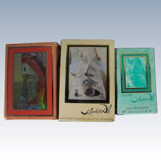 Mini Perfume Bottles by Salvador Dali Lips and Nose 1980s Three Perfumes