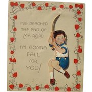 Valentine's Day Card 1920s