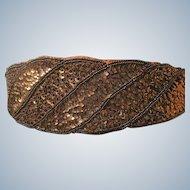 1980's Ladies Belt Copper Color Sequins Beads