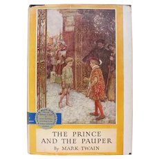 Mark Twain Book The Prince and the Pauper 1909 Good Condition Blue Ribbon