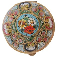 Micro Mosaic Small Box 1900-1920 Patch Box or Compact