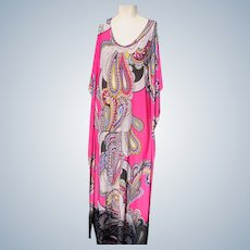 Long Dress for Summer Colorful Vintage Great Condition Size M/L