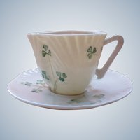 Vintage Tea Cup Belleek Ireland Eggshell Porcelain