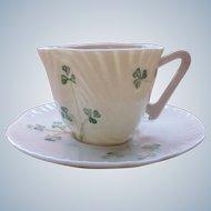 Vintage Tea Cup Belleek Ireland Eggshell Porcelain