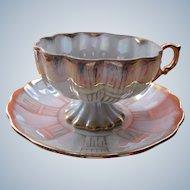 Teacup Porcelain Cup Pedestal and Saucer Royal Sealy China England 1940's