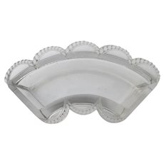 Lalique Signed Tray Part Crystal Vanity Glass Tray Chipped