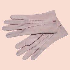 Pink Gloves Cotton Hansen Size 6 1/2 Clean Unworn 1940's or 50's