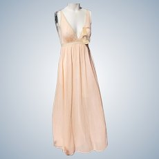 Nightgown by Olga Vintage Unworn Nylon Peach Small