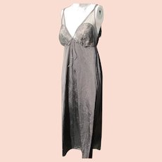 ed042206bc3 $25 SALE. Black Nightgown Lacy Nylon Vintage Unworn Size Med