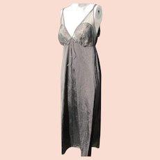 Black Nightgown Lacy Nylon Vintage Unworn Size Med