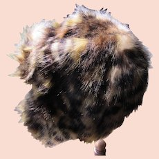 Faux Fur Hat Fuzzy Warm Good Condition