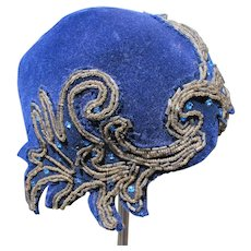 Vintage Hat Jeweled Czechoslovakian Simone Glass Beaded Work Rhinestones