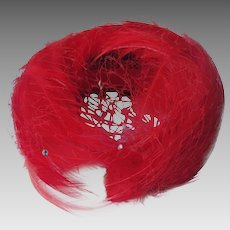 Feathered Hat Marilyn Monroe Style 1950's Netting Boxed