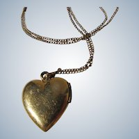 Heart Locket Pendant Chain 12K Gold Filled