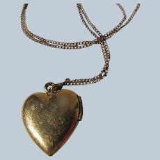 Heart Locket Pendant Chain 12K Gold Filled