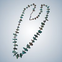 Native American Turquoise Necklace 28 Inches Long