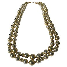 Gold Color Beads Long Light Weight Perfect