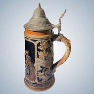 German Beer Stein Mug Marked Great Condition Pottery