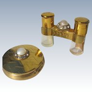 Perfume Bottle and Compact Matching Binoculars Jeweled