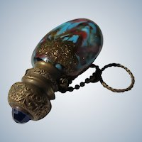 Scent Bottle Venetian Glass Finger Ring 1900