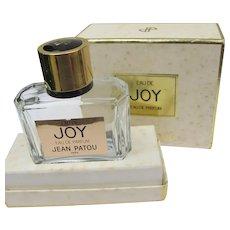 Joy Boxed Perfume Bottle Empty Vintage Screw on Top