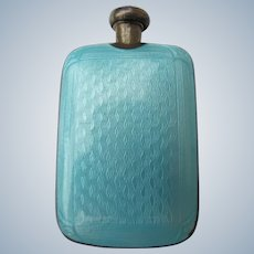 Guillouche  Enamel Perfume Bottle Sterling Silver