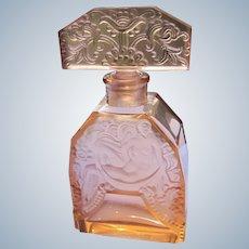 Hoffman Czechoslovakian Perfume Bottle Peach Rare