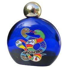 Perfume Bottle Niki de Saint Phalle 1980's Large Snakes 4 OZ J. Cochran