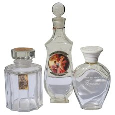 Perfume Bottles Vintage Commercial Three Desprez Le Galion Marcel