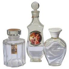 Perfume Bottles Vintage Commercial Three Desprez Le Galion Marcel