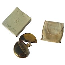Perfume in Box Mary Dunhill Brass and Glass Perfect 1937