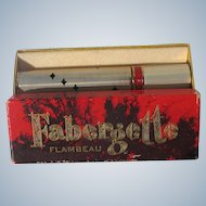 Boxed Perfume Roll on Faberge Flambeau Empty