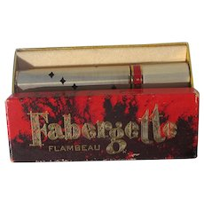 Boxed Perfume Roll on Faberge Flambeau Empty