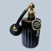 Marcel Franck Perfume Bottle Boxed Black and Gold Atomizer