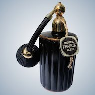 Marcel Franck Perfume Bottle Boxed Black and Gold Atomizer