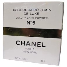 Chanel No. 5 Boxed Sealed Unused Vintage