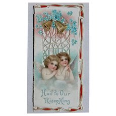 Easter Greeting Card 1900 Frances Brundage Die Cut