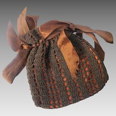 Hand Made Purse Crocheted Hand Stitched 1913-1920