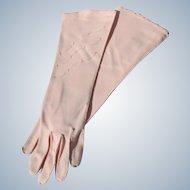 Pink Gloves Vintage Unused Fabric