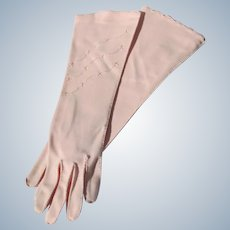 Pink Gloves Vintage Unused Fabric