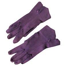 Purple Gloves Hand Tailored Unworn