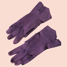Purple Gloves Hand Tailored Unworn