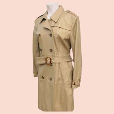 Genuine Leather Coat in Gold Color Great Condition Size Medium